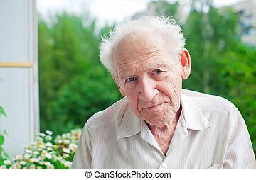 Serious Senior Man