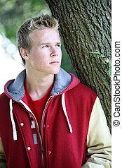Serious Teenage Boy