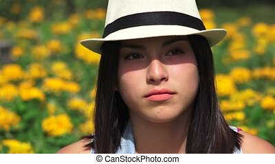 Serious Unhappy Teen Girl