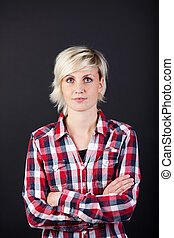 Serious Woman With Arms Crossed
