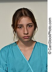 Serious Young Female Nurse