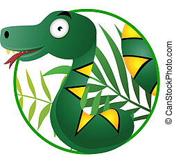 serpent, dessin animé