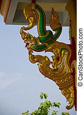 Serpent statue in thai temple