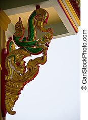 Serpent statue