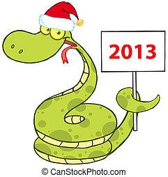 serpente, cappello, santa