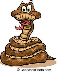 serpente, mascotte, carino