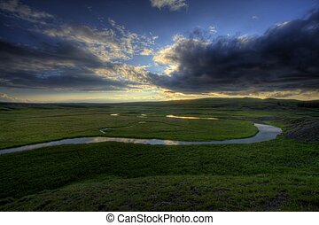 serpenter, rivière
