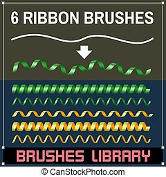 Serpentine Ribbon Brushes - Create your Own Design Elements