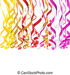 Serpentine Ribbons - Colorful serpentine ribbons