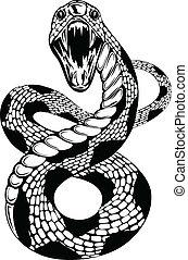 serpiente, attacke