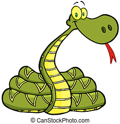 serpiente, caricatura, carácter
