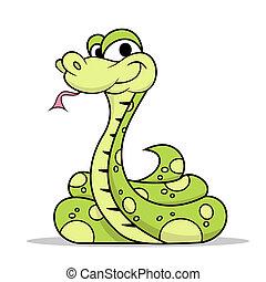 serpiente verde, veneno