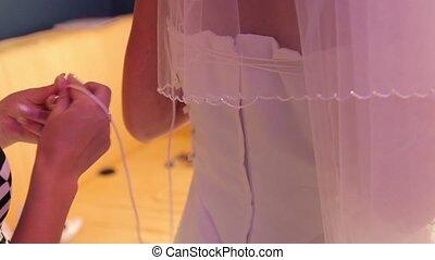 serrage, corset, mariée