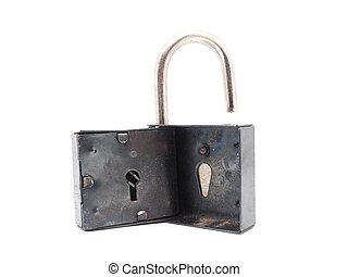 serratura, bianco, metallo, fondo