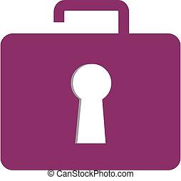 serratura, concetto, cartella, logotipo