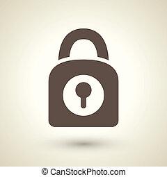 serratura, icona