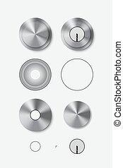 serratura porta, manico, metallo, rotondo