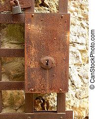 serratura, porta, medievale