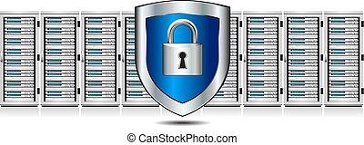 serratura, scudo, sistema servizio