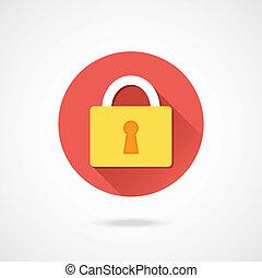 serratura, vettore, icona
