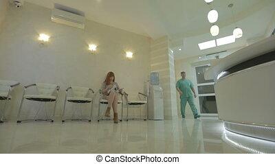 serrer main, cinestyle, patient, docteur