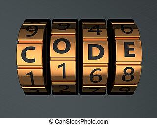 serrure, code