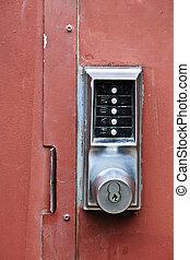serrure, sécurité, porte, métal