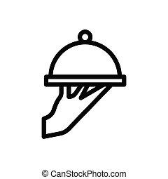serve  thin line icon