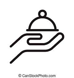 serve thin line vector icon