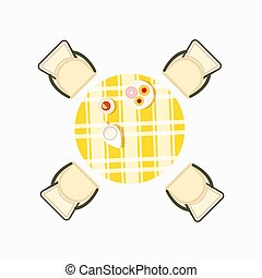 Served Dining Table Icon Vector Illustration