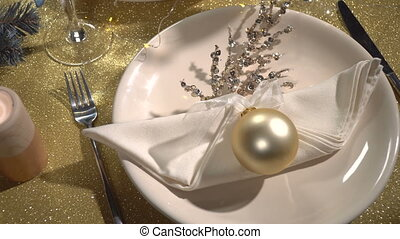 Served festive Christmas table - Beautiful served festive...