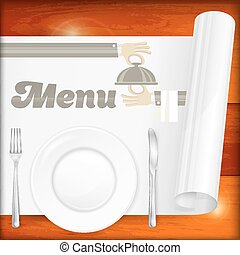 Served table with menu