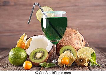 servedwith, frutas, bebida, fresco, coquetel