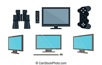 Server administration icons, computer security vector Illustration on a white background