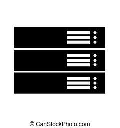 Server black color icon .