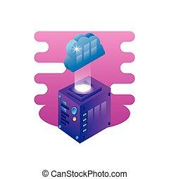 server data center with cloud computing