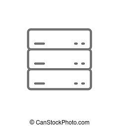 Server, data, web hosting line icon.