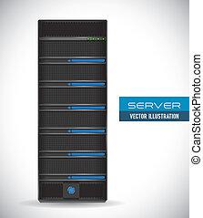 server graphic design , vector illustration
