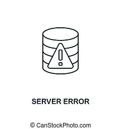 Server Error outline icon. Thin line style from big data icons collection. Pixel perfect simple element server error icon for web design, apps, software, print usage
