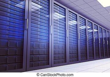 server, erzeugt, digital, zimmer
