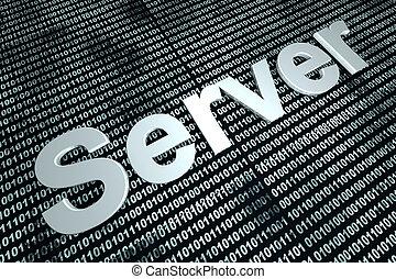 server, fondo, binario