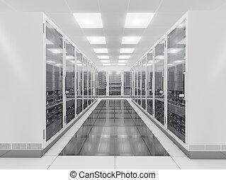 server hely, hálózat