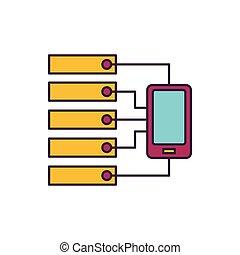 Server icon, cartoon style