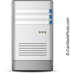 Server Icon - Computer Server Icon. Vector illustration