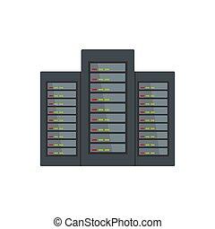 Server icon, flat style