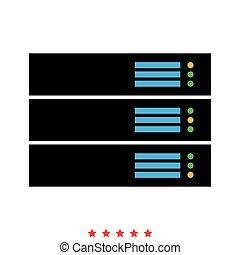 Server icon . Flat style