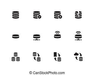 Server icons on white background. Vector illustration. -...