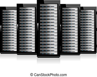 Server in Cabinets - Information Data Technology conceptual ...