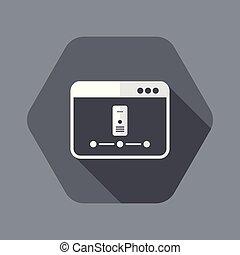 Server network - Vector flat minimal icon