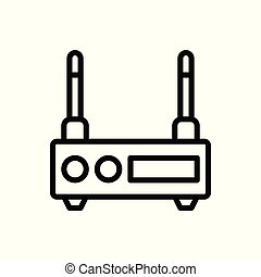 server outline icon. vector illustration. Isolated on white background.